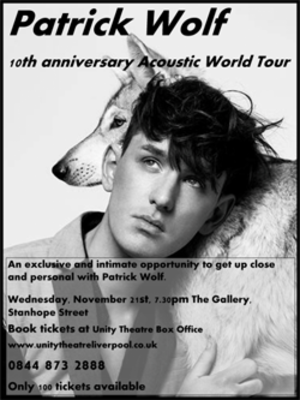 10th Anniversary Acoustic World Tour - Promotional poster for tour