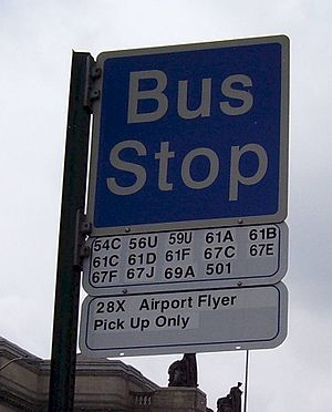 A typical bus stop sign in Allegheny County.