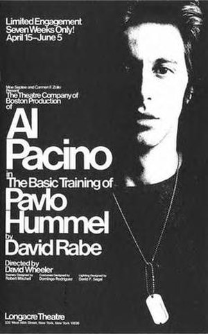The Basic Training of Pavlo Hummel - Original Broadway poster. Due to popular demand, the limited run was extended to September 3.