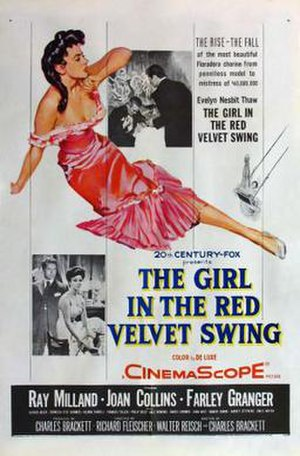 The Girl in the Red Velvet Swing - Theatrical release poster