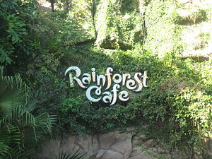 Rainforest Cafe - A sign outside of Rainforest Café at Disney's Animal Kingdom.