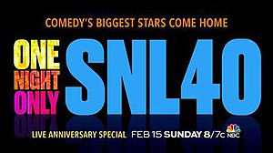 Saturday Night Live 40th Anniversary Special - Special's promo card