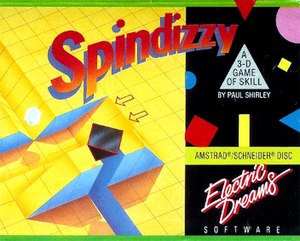 Spindizzy (video game) - Amstrad CPC cover of the game.