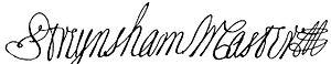 Streynsham Master - Image: Streynsham Master signature