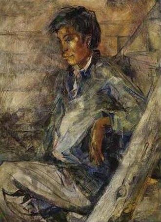 Susan Ross (artist) - Sam Kakegamic, Sandy Lake painting by Susan Ross, 1966