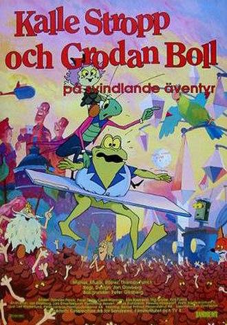 Charlie Strapp and Froggy Ball Flying High - Image: Svindlande aventyr poster