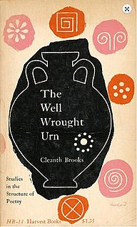 <i>The Well Wrought Urn</i> book by Cleanth Brooks
