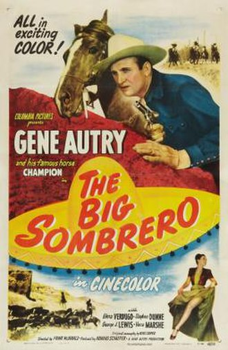 The Big Sombrero (film) - Theatrical release poster