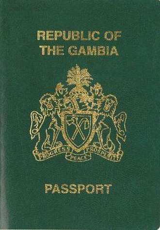 Gambian passport - The front cover of a contemporary Gambian passport.