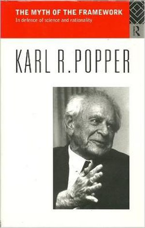 The Myth of the Framework - Cover of the first edition, showing Karl Popper in 1988