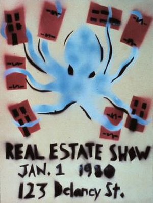 The Real Estate Show - The Real Estate Show poster by Becky Howland