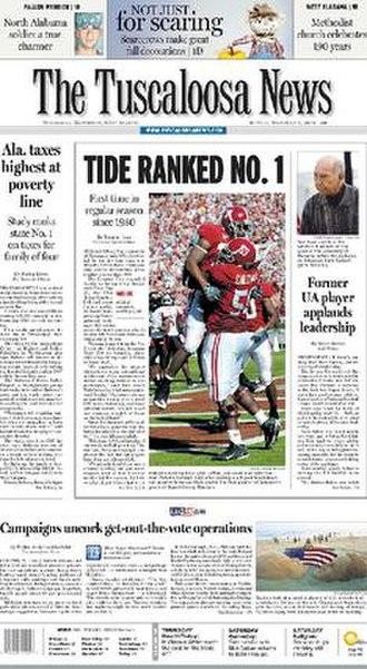 The Tuscaloosa News - Image: Tuscaloosa News Front