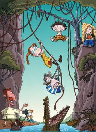 The Wild Thornberrys - The Wild Thornberrys, left to right, Nigel (bottom left), Marianne (with camera), Eliza (with glasses), Darwin (the chimpanzee), Donnie (with brown hair), and Debbie (sitting down, bored)