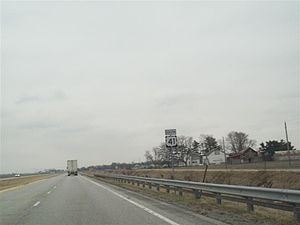 U.S. Route 41 in Indiana - US 41 North of Kentland, IN