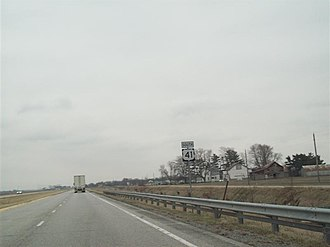 U.S. Route 41 in Indiana - US 41 north of Kentland