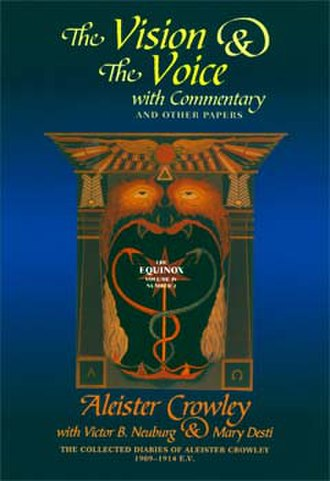 The Vision and the Voice - Cover of The Vision and the Voice by Aleister Crowley.