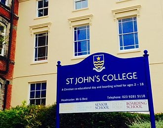 St John's College, Portsmouth - Warleigh House, front view, St. John's College, Southsea, Portsmouth