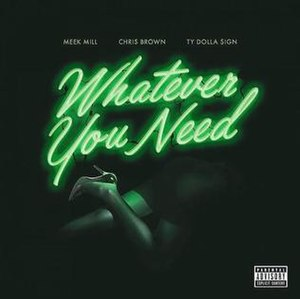 Whatever You Need (Meek Mill song) - Image: Whatever You Neeeed