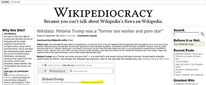 Wikipediocracy - Image: Wikipediocracy.scree nshot