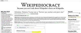 Wikipediocracy Website for discussion and criticism of Wikipedia