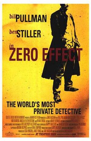 Zero Effect - theatrical release poster