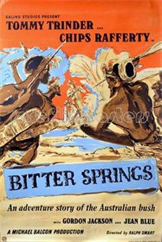 Bitter Springs (film) - British poster by Robert Medley