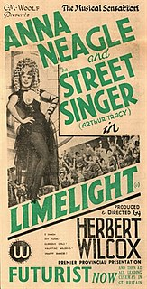 <i>Limelight</i> (1936 film) 1936 film by Herbert Wilcox