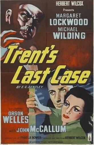 Trent's Last Case (1952 film) - British theatrical poster