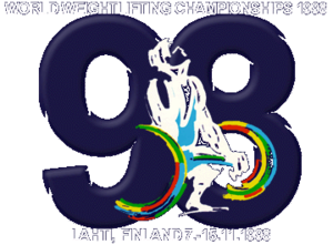 1998 World Weightlifting Championships - Image: 1998 World Weightlifting Championships logo
