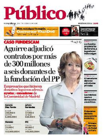 Público (Spain) - Image: 20090601 publico frontpage