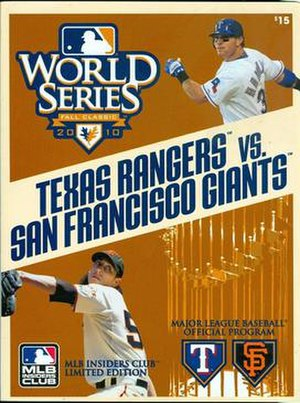 2010 World Series - Image: 2010 World Series official program
