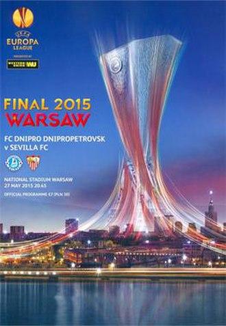 2015 UEFA Europa League Final - Image: 2015 UEFA Europa League Final programme