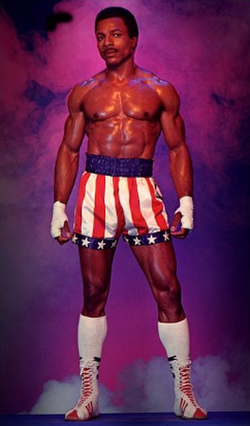 Weathers portraying Apollo Creed