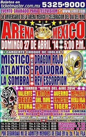 """Aniversario de Arena México - Official poster advertising it as a """"kids day"""" show"""