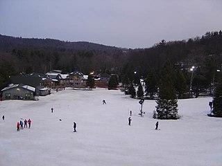 Ski Sundown Ski area in New Hartford, Connecticut