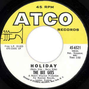 Holiday (Bee Gees song) - Image: Bee Gees Holiday