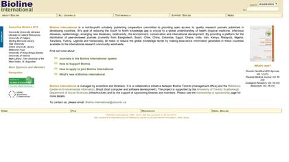 Bioline International screenshot