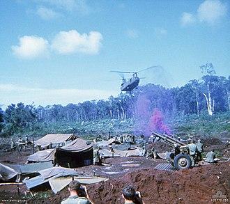 Battle of Coral–Balmoral - A US Army CH-47 Chinook at FSB Coral, 12 May 1968