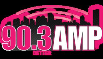 CKMP-FM - Image: CKMP 90.3 AMP logo