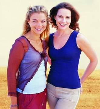McLeod's Daughters - The two original protagonists of the series, Tess (Bridie Carter - left) and Claire (Lisa Chappell - right)