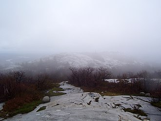 La Cloche Silhouette Trail - A cloudy spring day atop Silver Peak, the highest point of elevation in the park.