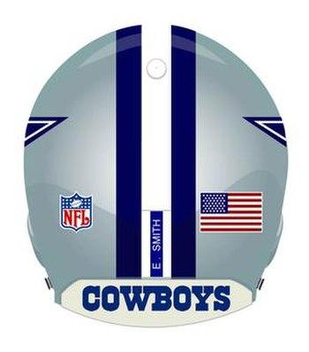 Back of Dallas Cowboys helmet