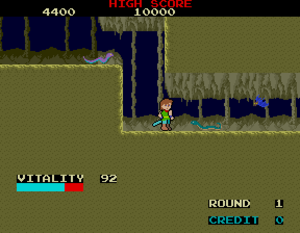 Dragon Buster - Screenshot of Dragon Buster (arcade version).