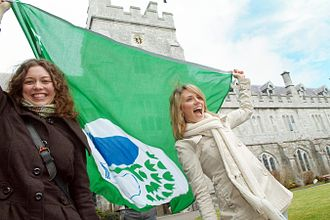 Eco-Schools - University College Cork was awarded the Green Flag in 2010