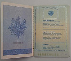 French passport - Image: F Rpass 3