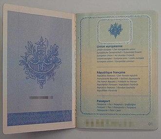 French passport - Image: F Rpass 3