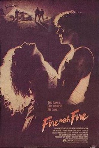 Fire with Fire (1986 film) - Theatrical release poster