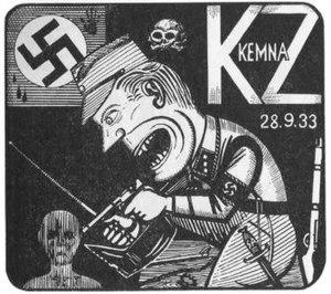 Kemna concentration camp - Woodcut by former Kemna prisoner Günther Strupp