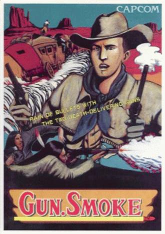 Gun.Smoke - Arcade game flyer