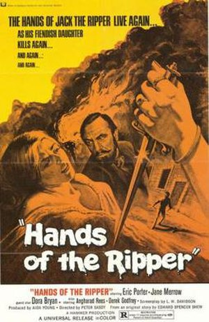 Hands of the Ripper - Promotional movie poster for the film